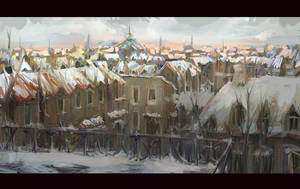 Winter Rooftops by MarcoBucci