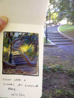New York Park Sketch by MarcoBucci