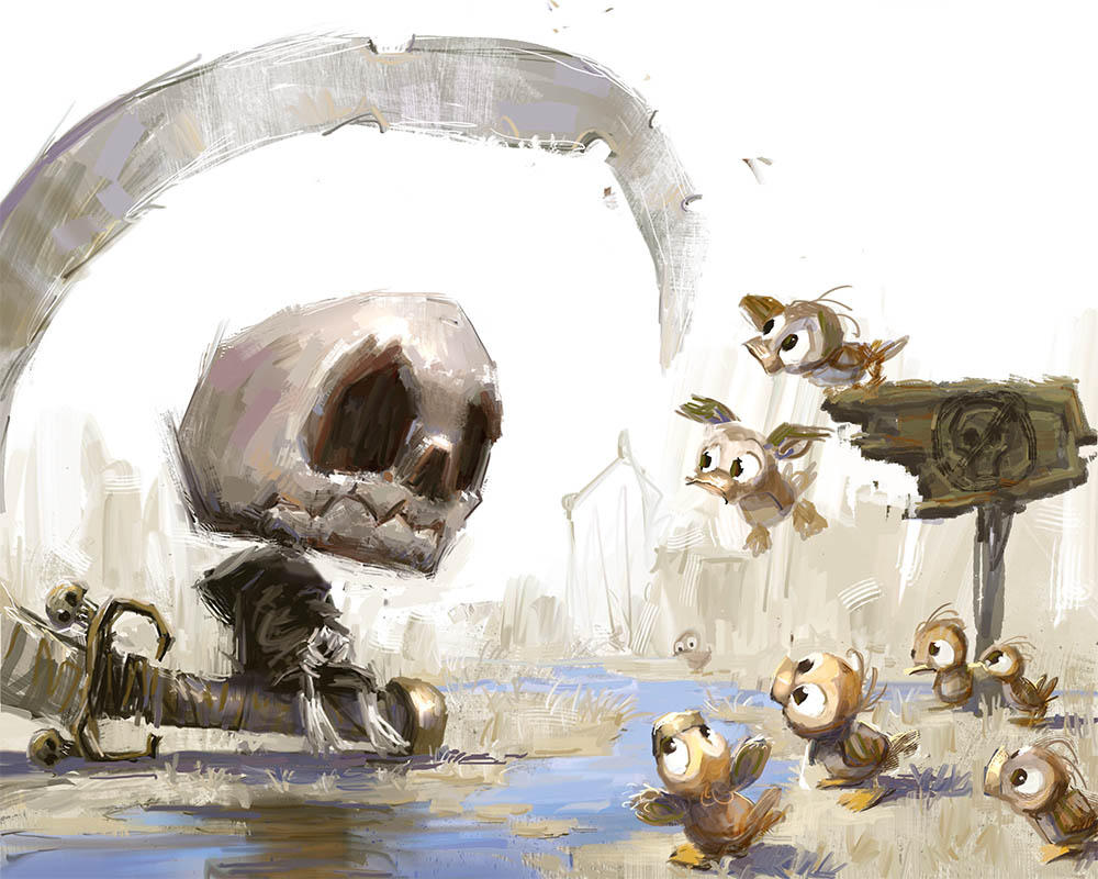 Baby Death Meets Ducks by MarcoBucci