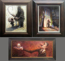 Original Paintings at Snakes And Lattes by MarcoBucci