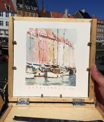 Copenhagen Watercolour sketch by MarcoBucci