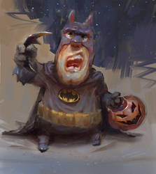 Batman accepts NO apples by MarcoBucci