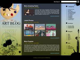 Web Layout: Art Blog by RIPpler