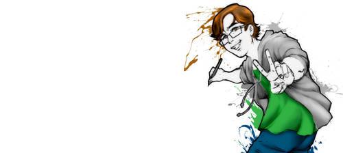 Cartoon Portrait: My Facebook Cover by RIPpler