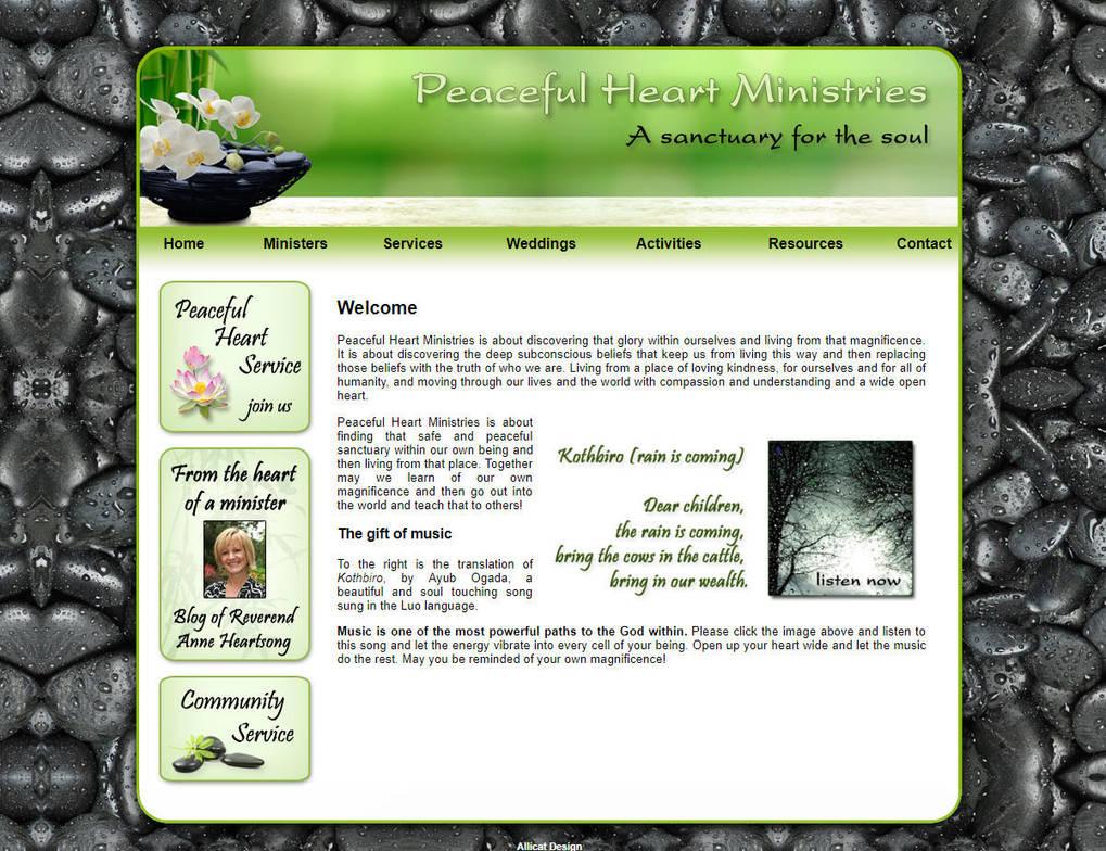 Peaceful Heart Ministries website design by RIPpler