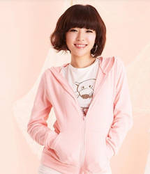 pink hoodie by marshmellowish