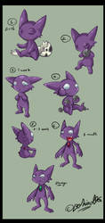 Sableye Growing Up by TamarinFrog