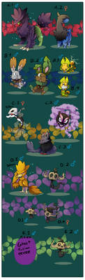 PKMNation - Way Too Many Late Clucthes (CLOSED) by TamarinFrog