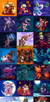 Pokehalloween Collection by TamarinFrog