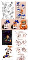 Splatoon Art Dump04 by TamarinFrog