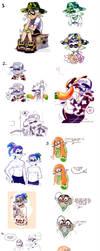 Splatoon Art Dump 11 by TamarinFrog