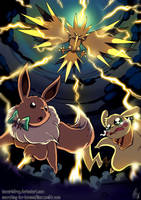 Shocking Battle - Colored by TamarinFrog