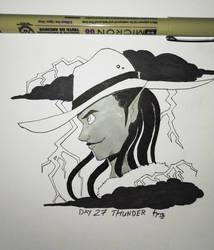 Inktober 2018 Day 27: Thunder by TamarinFrog