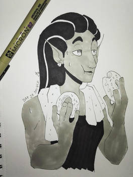 Inktober 2018 Day 29: Double by TamarinFrog
