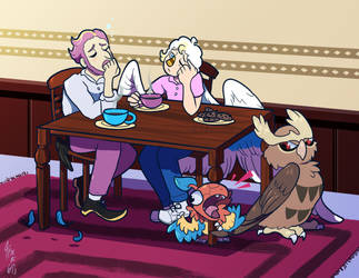 HL Collab - Tired Dads by TamarinFrog