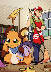 House Cleaning Helper by TamarinFrog