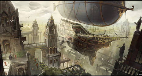 airship city by Min-Nguen