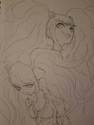 Danganronpa Sketch  by ozkh