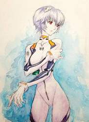 Rei Ayanami Watercolor by ozkh
