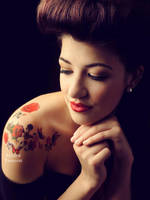 Roses on her skin by fae-photography