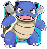 009 Blastoise by Miss-Glitter