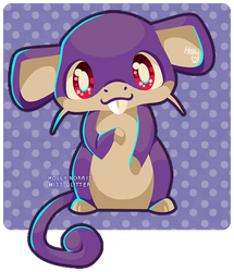 019 Rattata by Miss-Glitter