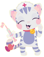 Nurse Kitty-chan by Miss-Glitter