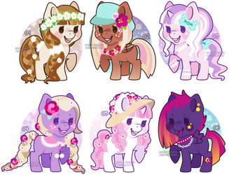 Pony Adoptables [AUCTION OPEN - 1 left!] by Miss-Glitter
