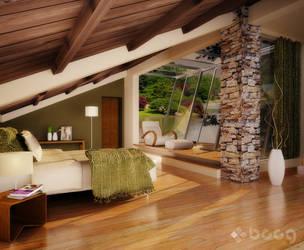 Bedroom - Mediterranean style by saescavipica