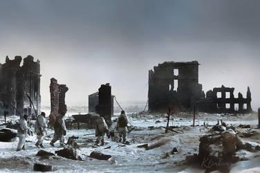 The center of Stalingrad, winter 1943 by klimbims