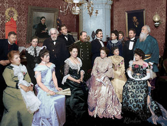 Musical evening at Stasov, 1902 by klimbims