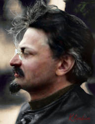 Leon Trotsky 1924 by klimbims