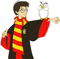 Harry Potter and Hedwig by afo2006