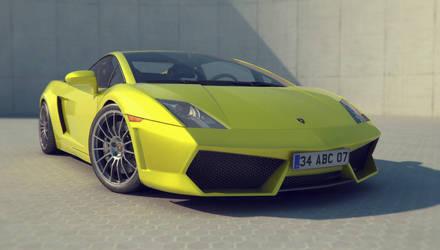 Lamborghini Gallardo Render by automatte