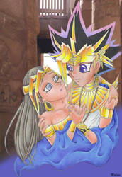 The Pharaoh and His Queen by RyouGirl