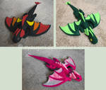 Dragon Plushie Colors by RyouGirl
