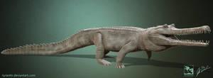 Thoracosaurus - Saurian by LittleBaardo