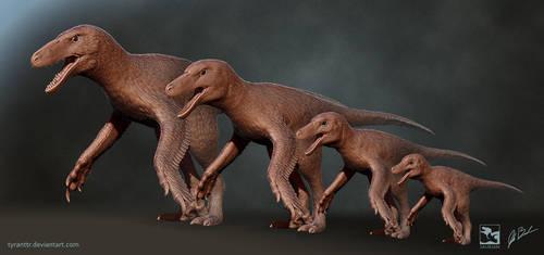 Dakotaraptor Ontogeny - Saurian by LittleBaardo