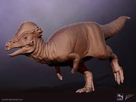 Pachycephalosaurus - Saurian by LittleBaardo