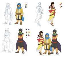 Sandstone Consortium Gijinkas by ClockworkShrew
