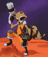 Rocket Raccoon by ClockworkShrew