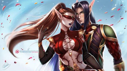 CM: Velenthia and Baelaris by OlchaS