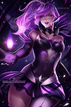 Dark Elementalist Lux  :NSFW optional: by OlchaS