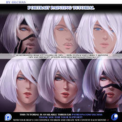 Portrait Painting tutorial preview by OlchaS