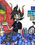 Gamzee Makara in His Hive by Millie-the-Cat7