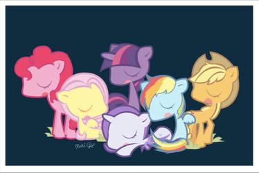 Little Little ponies by littlepainkiller