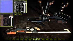 Custom Knife by Yughues