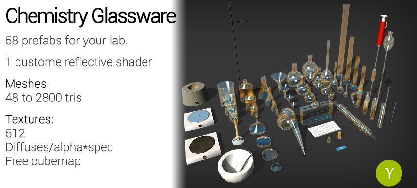 Unity: Chemistry Glassware by Yughues