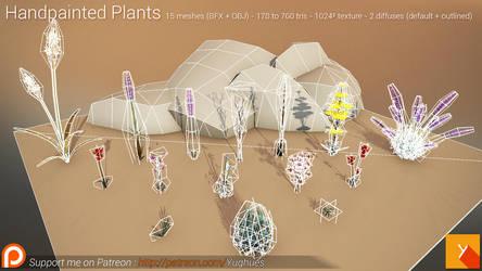 [Free] Handpainted Plants bis by Yughues
