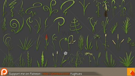 LP HP whatever Grass WIP by Yughues